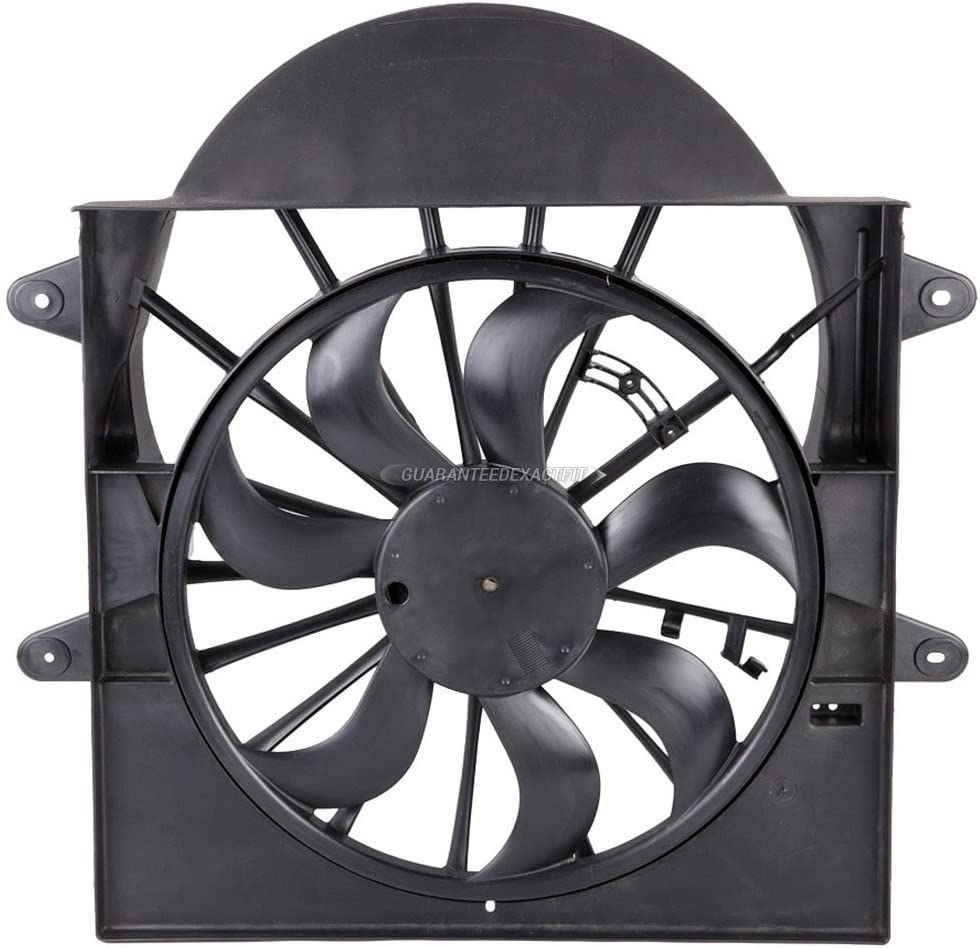 Condenser Or Radiator Cooling Fan Assembly For Jeep Grand Cherokee & Commander - BuyAutoParts 19-20836AN NEW