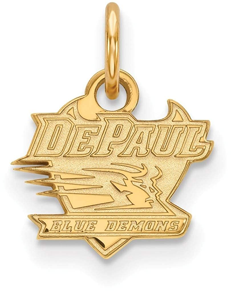 GP001DPU Gold-Plated Sterling Silver DePaul University X-Small Pendant LogoArt