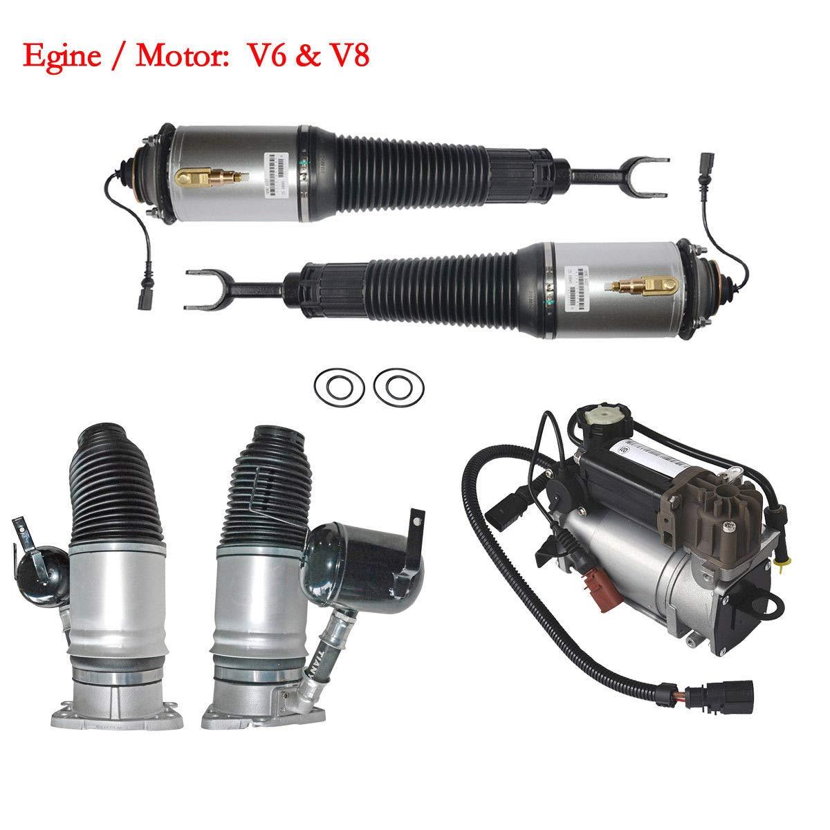 Delantero & Pierna + trasera Aire Muelle Compresor Kit 4e0616040af 4e0616040ag: Amazon.es: Coche y moto