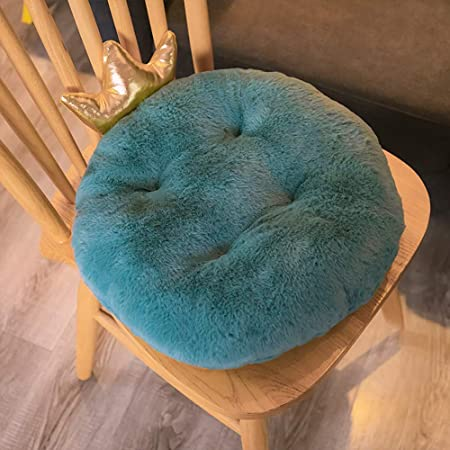 QHQH Cojín Redondo para Silla de Oficina, Corona Cojines Redondo para sillones, Muebles de jardín Almohadillas de Asiento Acolchadas Redondas para sillas de Comedor, 46 * 37 * 10cm: Amazon.es: Hogar