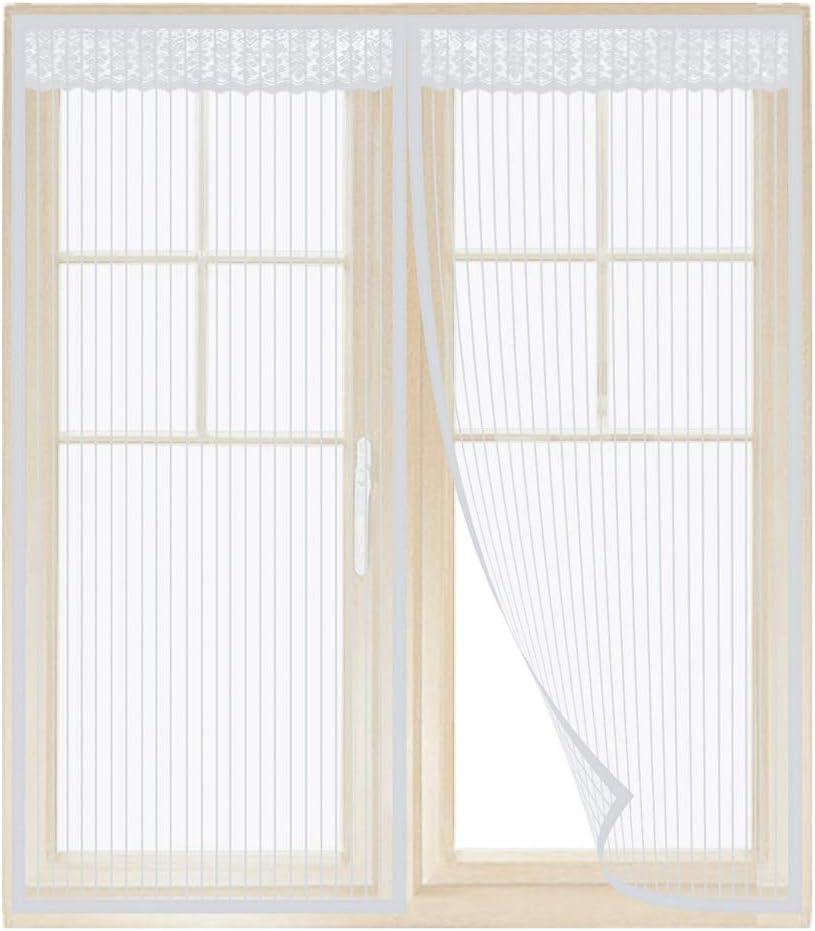 Tenda/Zanzariera/Magnetica 80x100cm for Corridoi//Finestra Bianco Auto Chiusura maticamente Pieghevole Rete