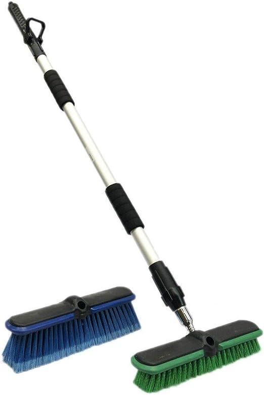 discoount - Cepillo telescópico para Escoba de jardín (3 Piezas) Cepillo de Lavado con Cepillo de pedrería.: Amazon.es: Jardín