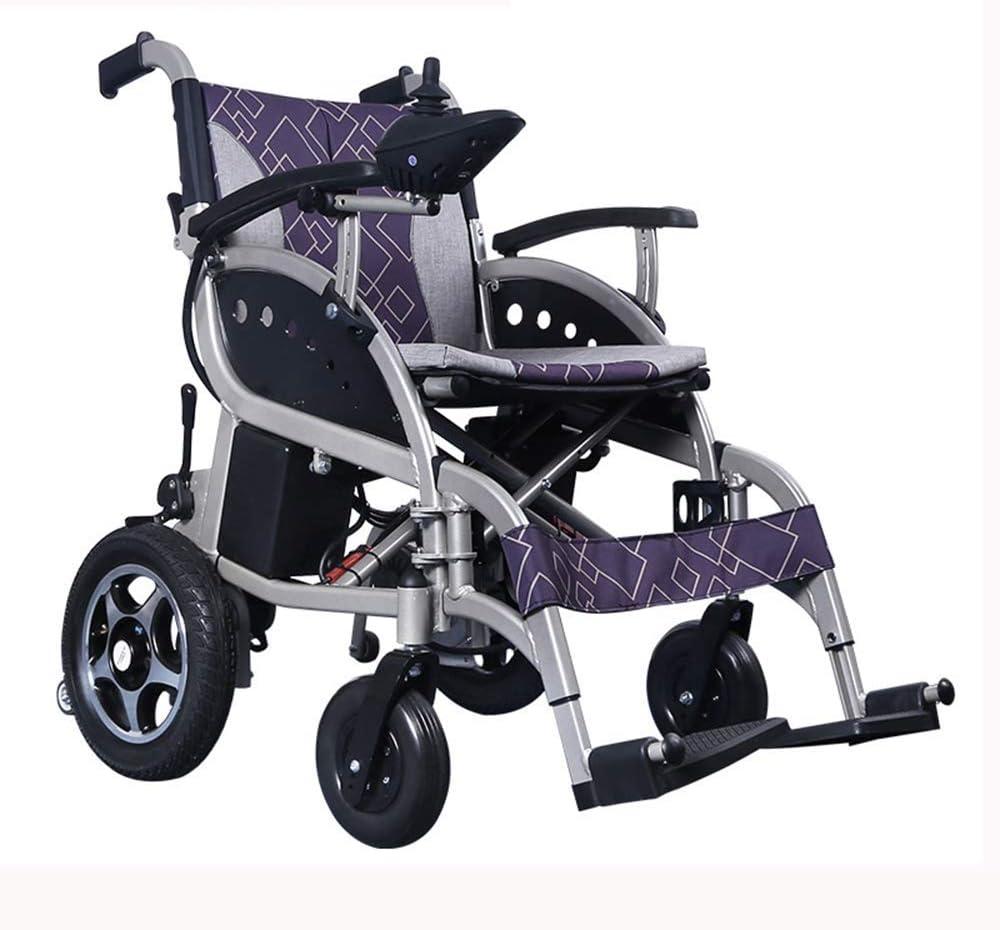 AYHa Silla de ruedas eléctrica plegable ajustable Powerchair ayuda motriz (27Kg)