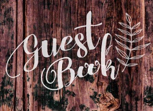 Guest Book: Rustic Guestbook Wedding