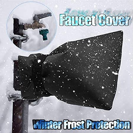 Color : Navy Outdoor Winter Faucet Socks for Winter Protection 2Pcs Faucet Freeze Cover