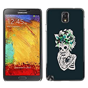 """For Samsung Note 3 N9000 Case , Corazón floral Flores cráneo esquelético"""" - Diseño Patrón Teléfono Caso Cubierta Case Bumper Duro Protección Case Cover Funda"""