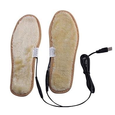 Yasheep Electric USB Plug Heated Shoes Insoles Plush Film Heater Warm Socks Pads  Foot e3cd90193460