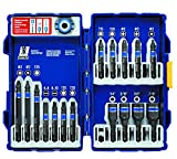 IRWIN Tools IMPACT Performance Series Fastener Power Bits, 17-Piece Set with Pro Case and Magnetic Screw-Hold Attachment (1903768)