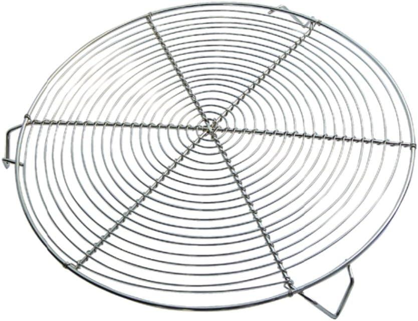 DE BUYER 0237.28 - Bandeja de Grill Redonda (con 3 Patas, 28 cm, niquelada)