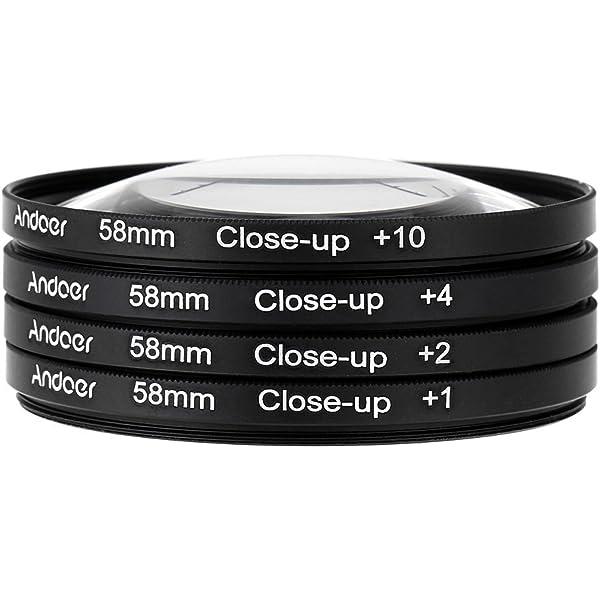 55 mm, 1//+2//+4//+10 dioptr/ías Juego de Lentes para Primeros Planos Especial para macrofotograf/ía Walimex