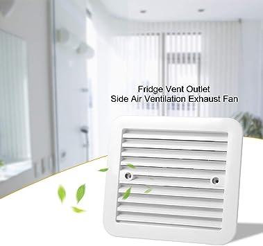 Blanco Ventilador de salida de ventilación de refrigerador de 12V ...