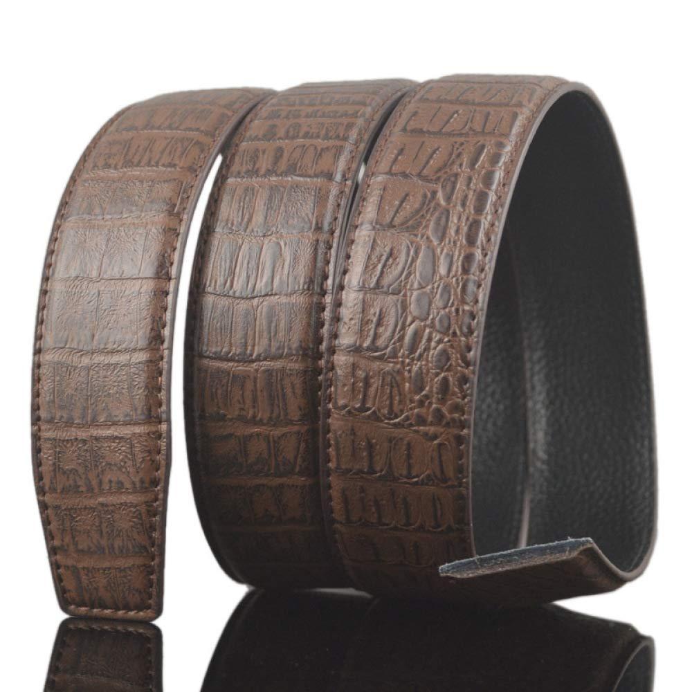 DENGDAI Pattern Belt Strip Automatic Buckle Belt Strip Mens Belt Strip Length 100-135cm