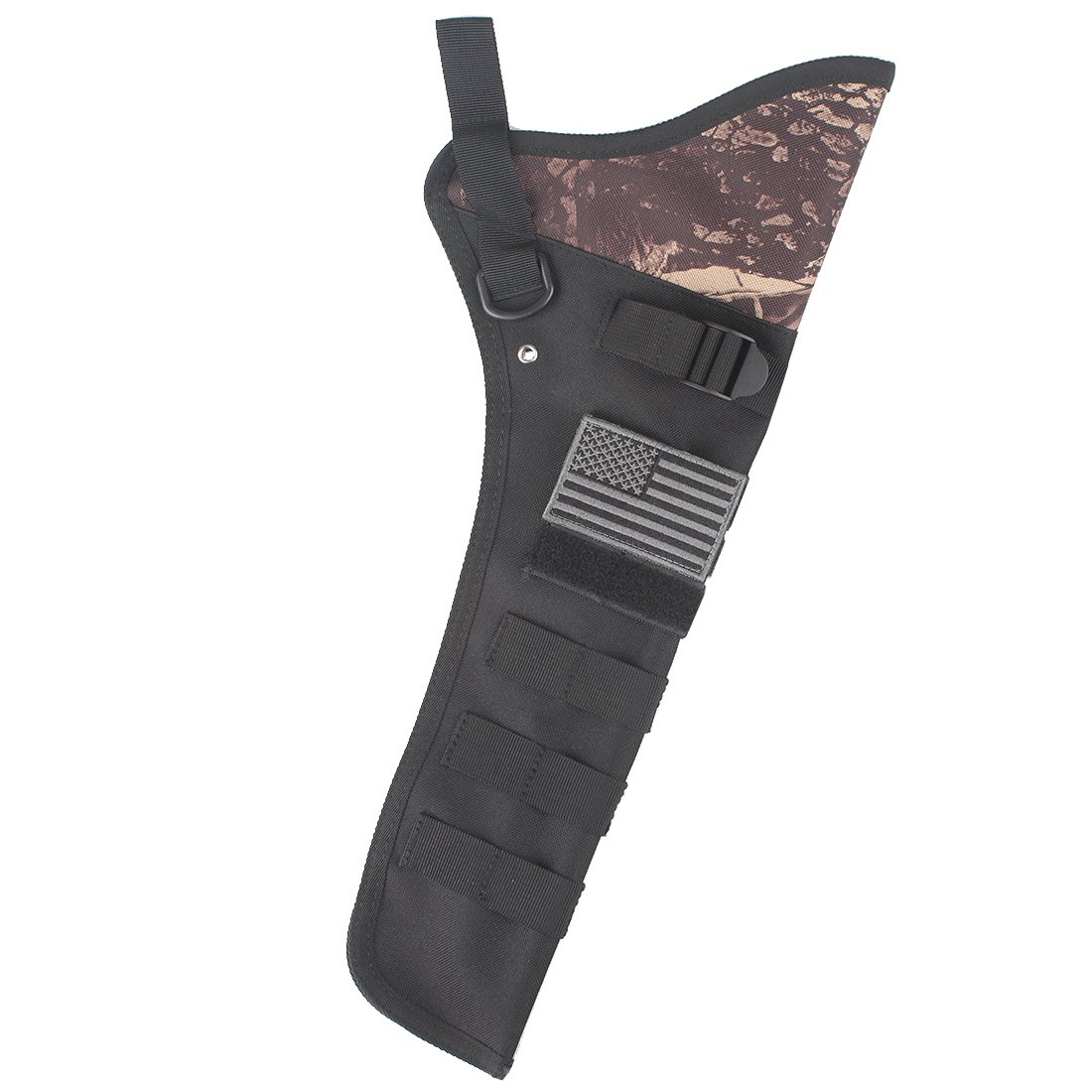 KRATARC Archery Lightweight Hip Arrow Quiver Foldable Compact Arrows Bag with Molle System Hanged for Target Shooting (Camo)