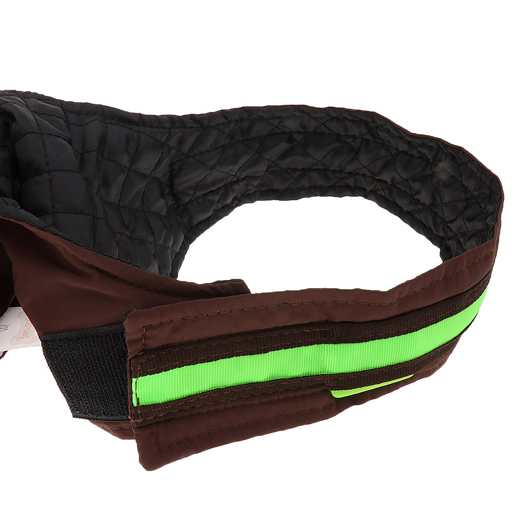 S, Blue Water-resistant Small Dog Coat Clothes Fleece Lined with LED Reflective Strip