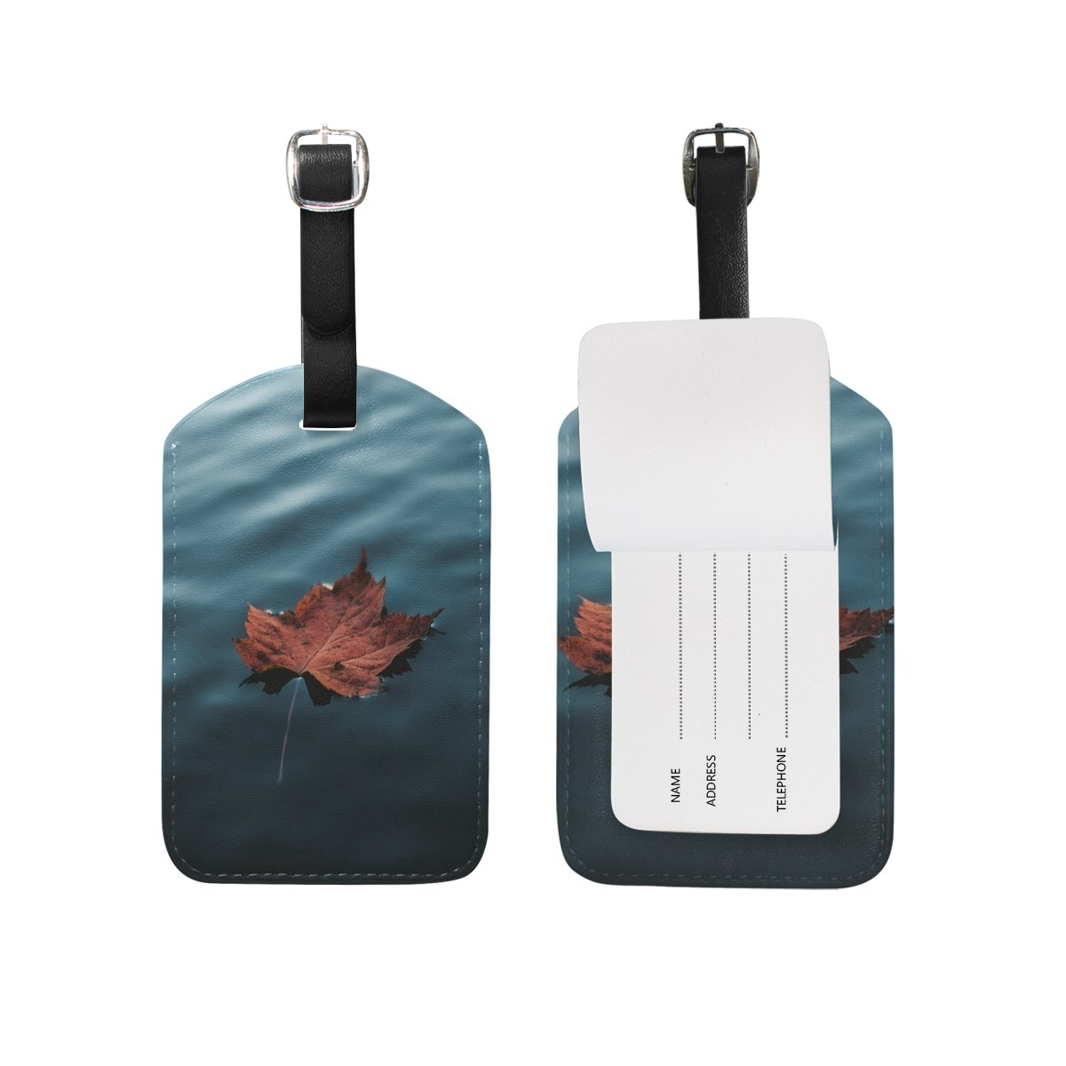 1Pcs Saobao Travel Luggage Tag Deciduous Sea Water PU Leather Baggage Suitcase Travel ID Bag Tag