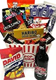 Movie Night Popcorn and Candy Gift Basket Plus Free Redbox Movie Rental Code Gift Card - Includes Popcorn Bucket, Movie Theater Popcorn and Delicious Candy Snacks (Snack Gift - Deluxe Men's Popcorn)