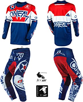 Amazon Com O Neal Element Warhawk Blue Red Kids Youth Motocross