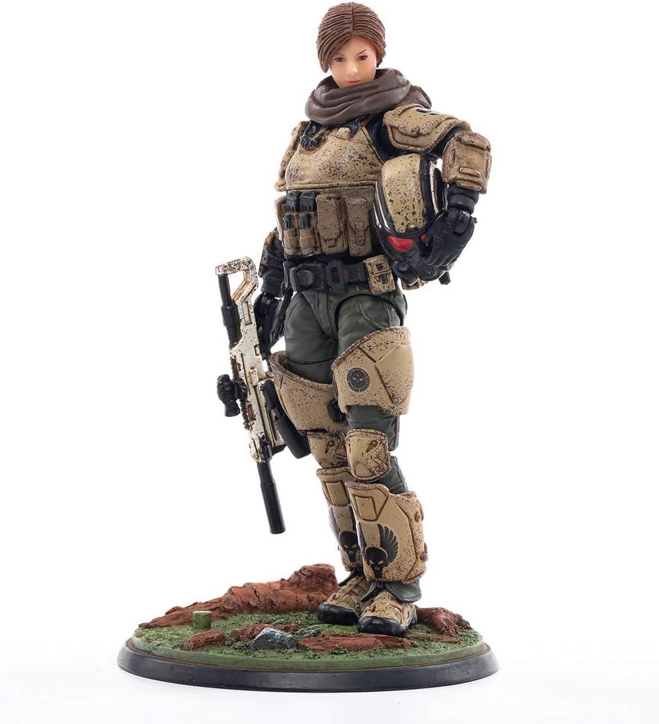 xSuper Figuras militares JOYTOY 1/18 10cm Figura de acción pintada a mano Modelo soldado Capitán de Mecha Caballería de la 9ª Legión Modelo
