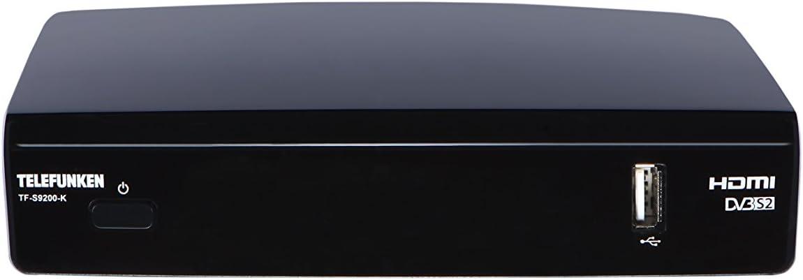 Telefunken TF-RS9200 Cable Negro TV Set-Top Boxes - Reproductor/sintonizador (Cable, DVB-S,DVB-S2, 1280 x 1024 Pixeles, 576p,720p,1080i,1080p, 4:3, 16:9, MPEG2,MPEG4)