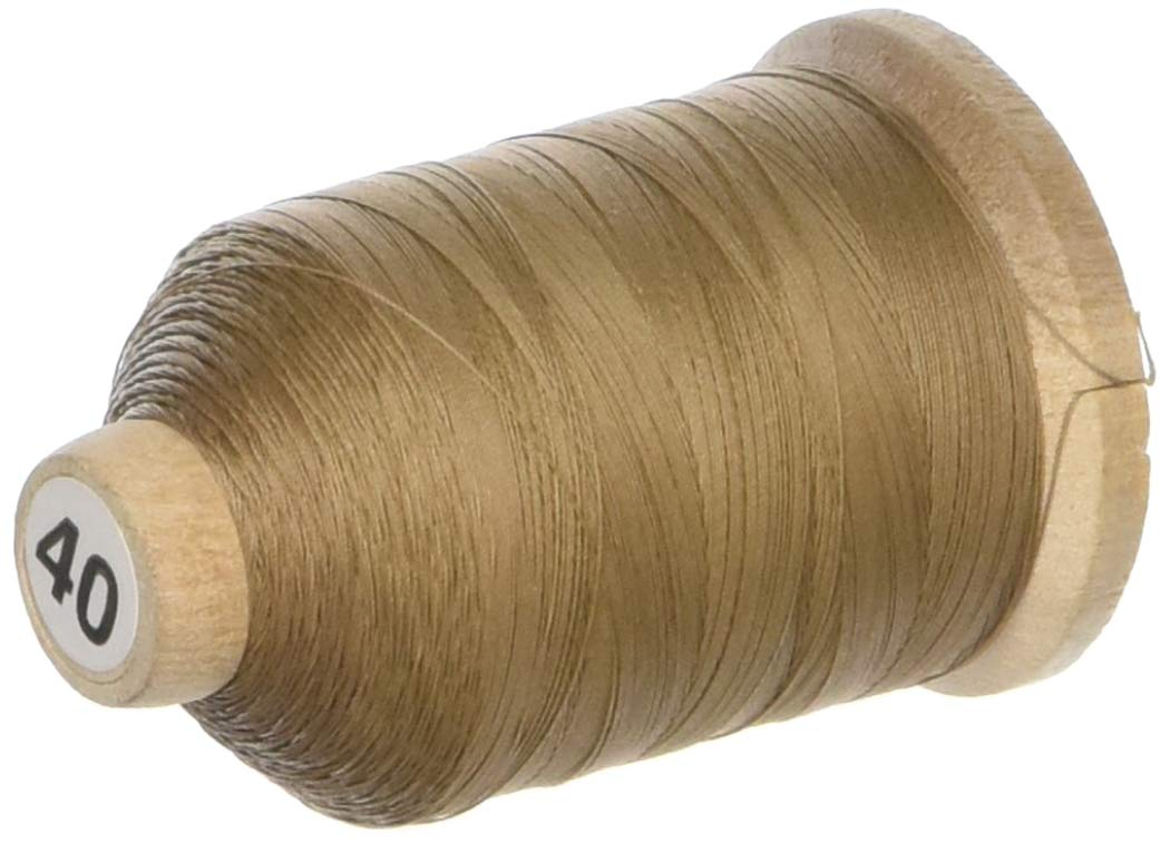 YLI 21100-003 3-Ply T-40 Cotton Hand Quilting Thread, 1000 yd, Light Brown