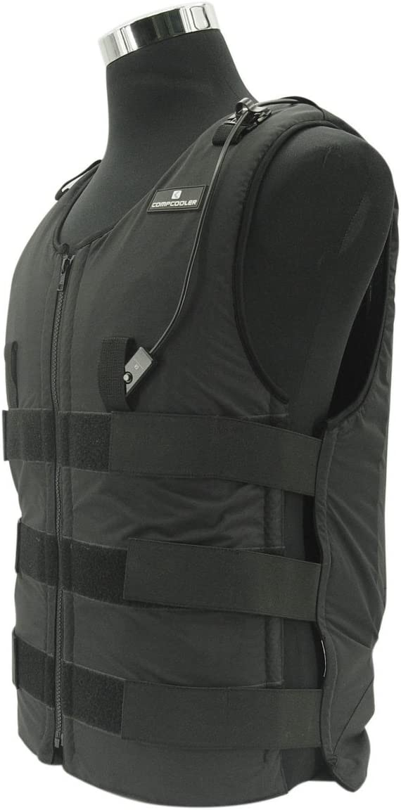 Ice Water Circulating Cooling Vest Black with Detachable Bladder M-L