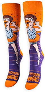 product image for FREAKER Feet, Unisex Casual Dress Fun Colorful Cotton Crew Socks, Richard Ostrichard Simmons