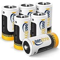 Keenstone 6 stuks Oplaadbare C/R14 Batterijen, 5000 mAh 1,2 V Ni-MH Accu Type C Baby C HR14 1200 Cycli met Opbergdoos