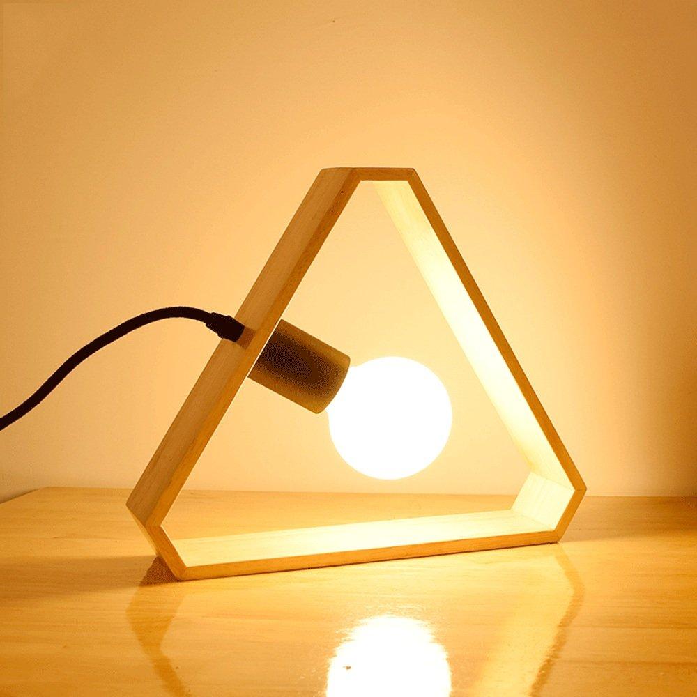 Petatly Simplicidad Moderna Lámparas de Mesa de Madera Maciza for ...