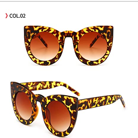 Yangjing-hl Big Box Ladies Gafas de Sol Decorativas Trend ...