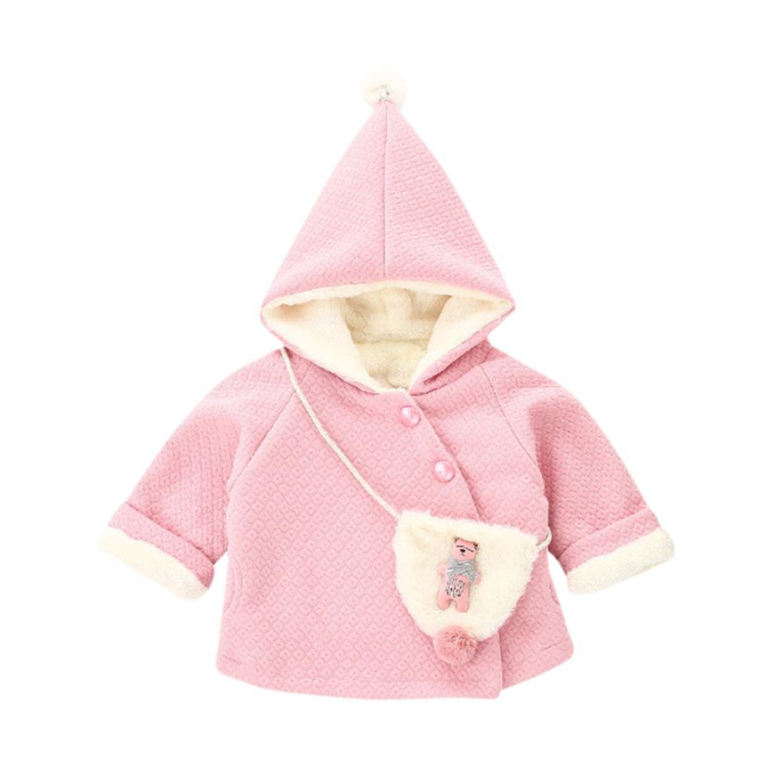 Goodtrade8 GOTD Infant Toddler Baby Girl Boy Coat Long Sleeve Clothes Ball Warm Winter Tops Outfits