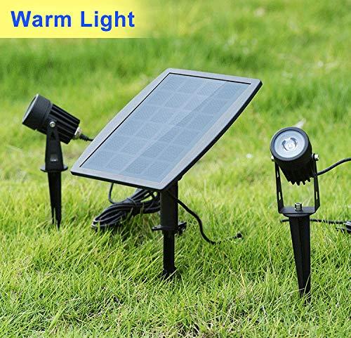 2PCS Garden Yard Lawn Landscape Solar Power LED Waterproof Outdoor Spot Lights