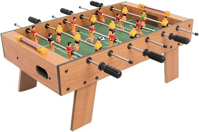 Futbolines Junta Juego Educativo Hockey de Mesa de Escritorio Partido de fútbol Tabla Doble Padres e Hijos Juguete Interactivo niños (Color : Wood Color, Size : 48 * 28 * 19cm): Amazon.es: Hogar