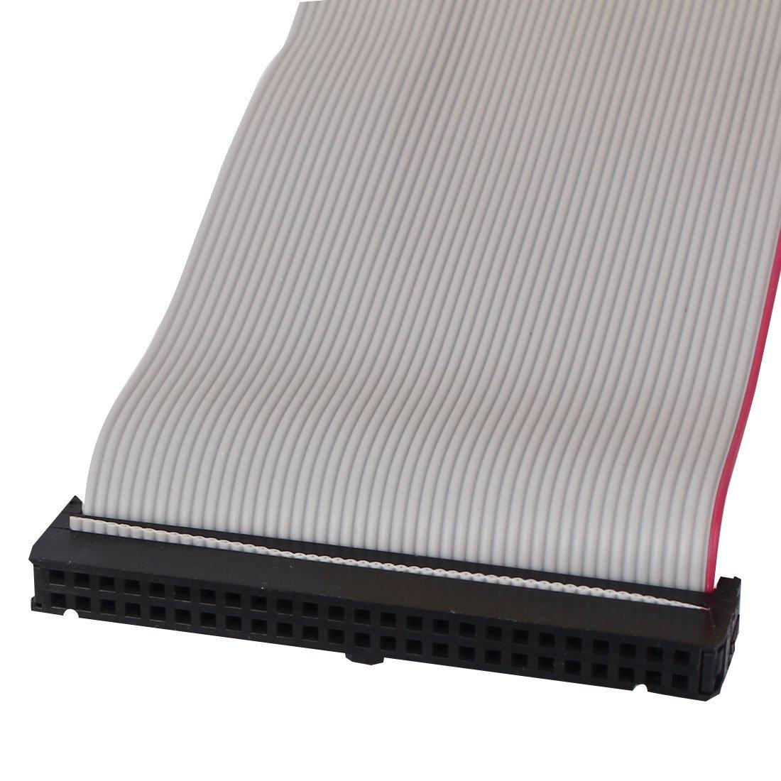 eDealMax IDE PATA estensione Cavo a nastro, femmina a femmina, 50 cm, 2,54 mm, 50-pin, 2 pezzi