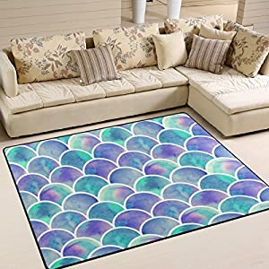 61F6anhovbL._SS300_ 50+ Mermaid Themed Area Rugs
