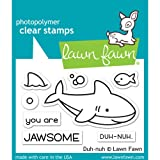 Lawn Fawn - Duh-nuh - Shark Stamp and Die Set
