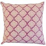 The Pillow Collection Raspberry Padma Geometric Bedding Sham, King/20'' x 36''