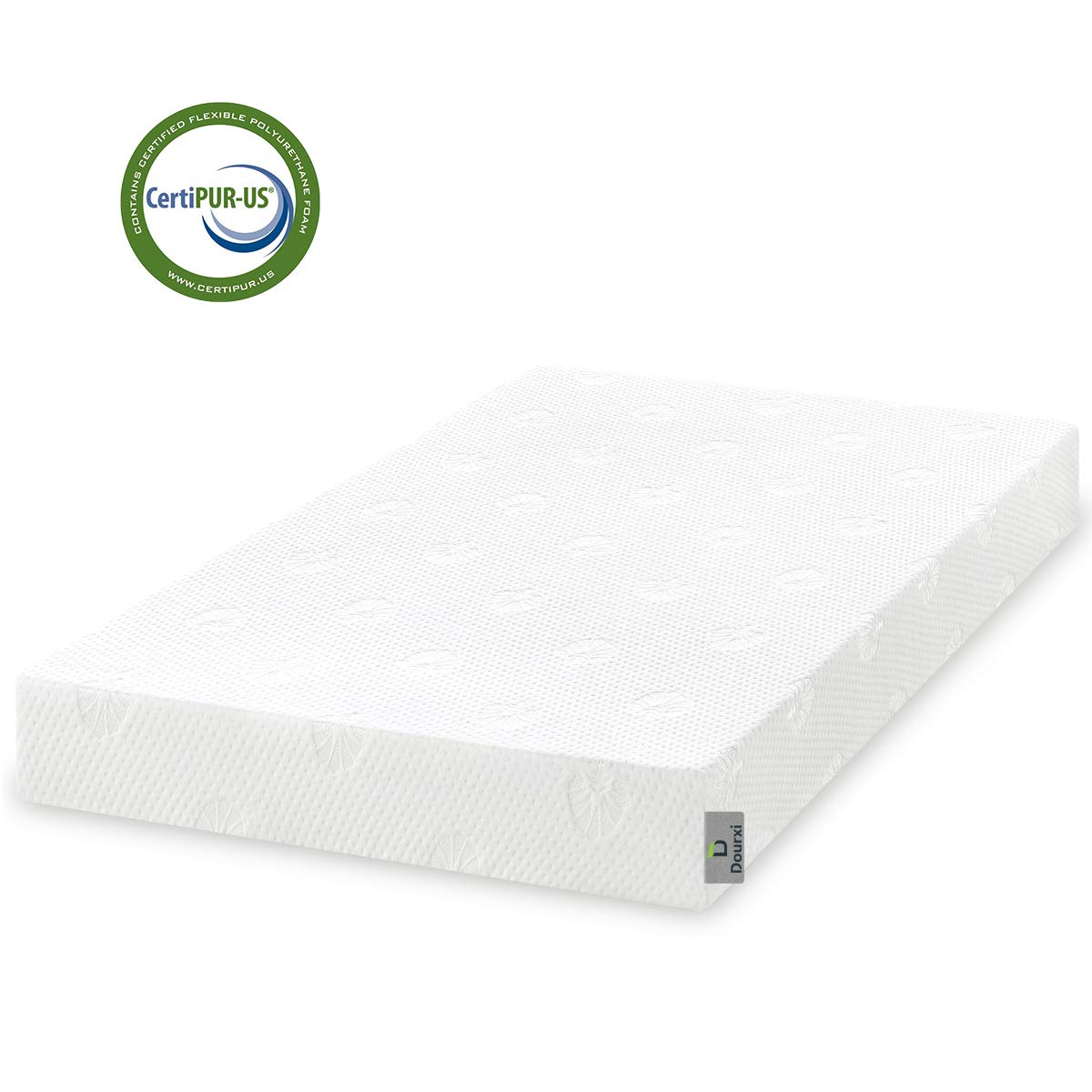 Dourxi Crib and Toddler Mattress - Ideal Breathable & Quiet Foam Mattress Airflow Sleep Surface with Removable Washable Outer Cover, Lightweight Crib Mattress by Dourxi