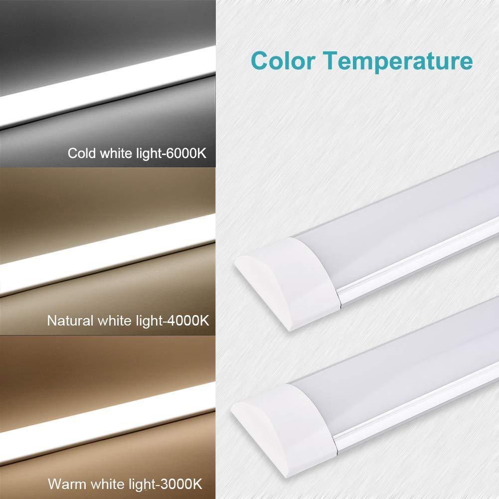 Lampada da soffitto a LED da 30W a luce 3ft 90CM con 3600LM in bianco caldo 3200K Luce a stecca angolo a fascio 130 /° plafoniera per bagno soggiorno cucina garage magazzino officina di pingouGo