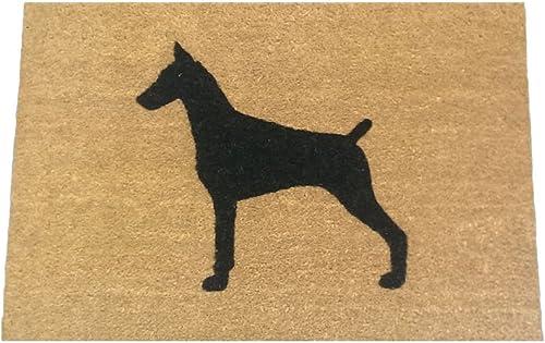 Doberman Pinscher Silhouette Doormat 18 x30