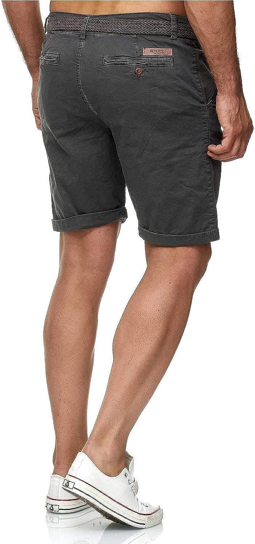 Indicode Conor Bermuda da uomo Chino con cintura 100/% cotone vestibilit/à normale