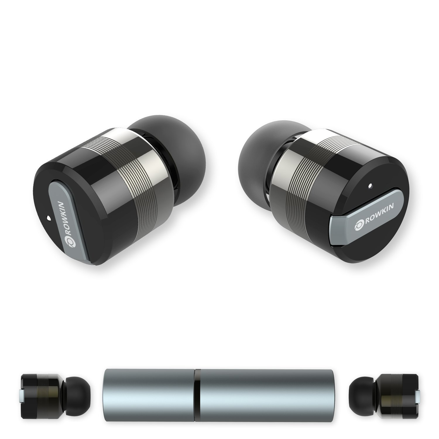 bluetooth headphones rowkin bit stereo wireless earbuds with mic smallest co ebay. Black Bedroom Furniture Sets. Home Design Ideas