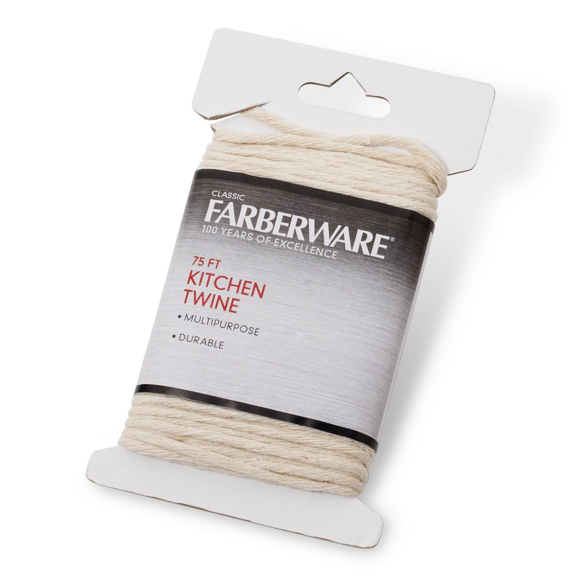 Farberware 5081722 Classic Kitchen Twine, 75-Feet, Small, White Lifetime Brands