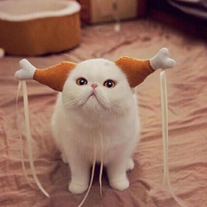 d39282a9c8 Unpara 2018 Funny Chicken Drumstick Headband for Dog Cat Turkey Headdress  Accessories Costumes (S)