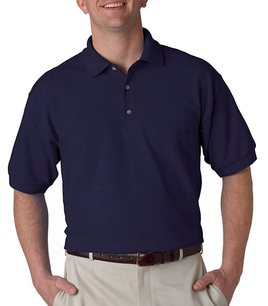 Gildan Ultra Cotton 65 Oz Piqu Polo G380 Navy At Amazon Mens