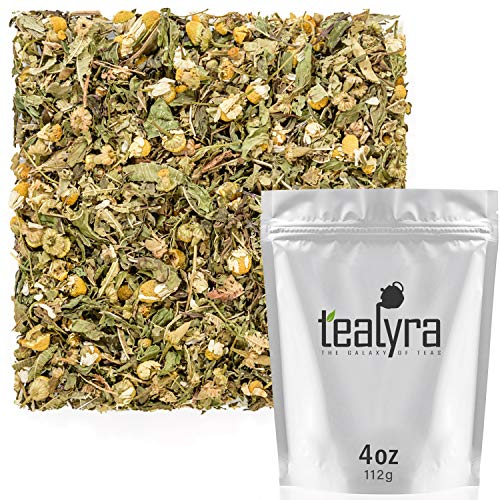 Tealyra - Healing Meadow - Chamomile - Spearmint - Lemon Verbena - Herbal Loose Leaf Tea - Calming and Relaxing Tea - Caffeine-Free - 100% Natural Ingredients - 112g (4-ounce)