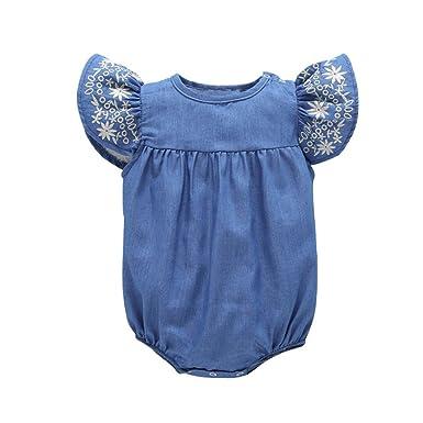 Amazon.com: STARON Pelele bebé recién nacido niña, ropa tela ...