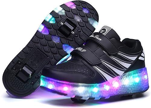 UBella Niñas Niños Luz LED single rueda/doble ruedas para patines zapatillas: Amazon.es: Zapatos y complementos