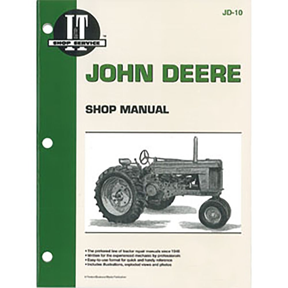 Amazon.com: SMJD10 JD-10 New Shop Manual Made To Fit John Deere Tractor 50  60 70: Industrial & Scientific