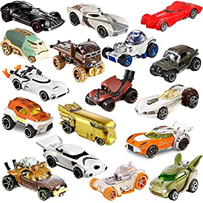 Hot Wheels Set of 12 Die Cast Star Wars Toys Characters Cars Action Figure Toy