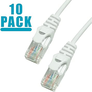 10 Pack White 5-feet premium Cat6 Patch LAN Ethernet Network Cable